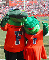 Albert and Alberta the Alligator - Florida Gator mascots