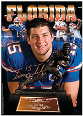 Tim Tebow with the Heisman Trophy